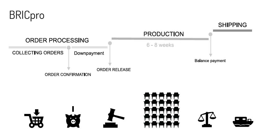 Production timeline BRICpro